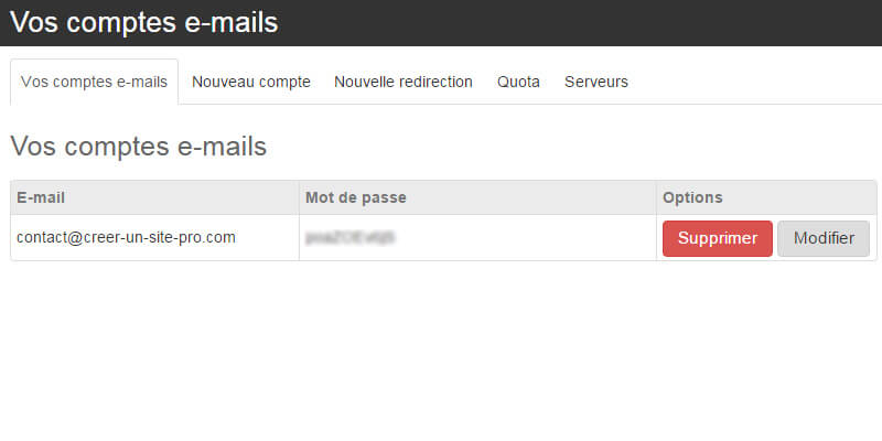 Acces mail