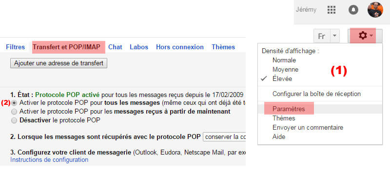 Config gmail
