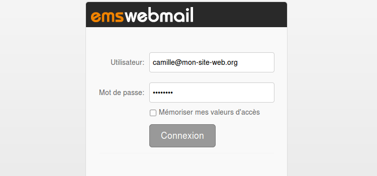 Connect webmail