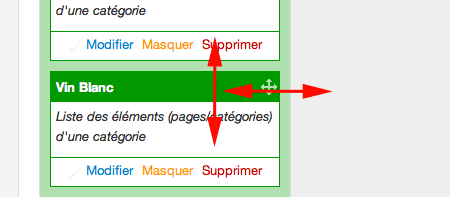 Deplacer widgets menus